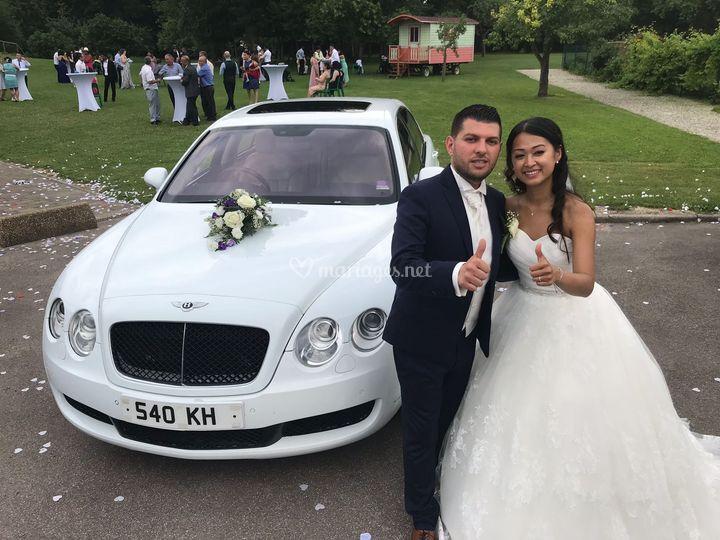 Mariage en Bentley Unique