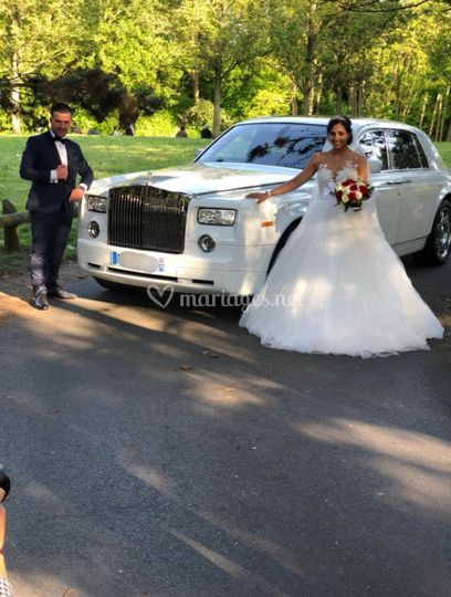 Mariage du jour en Rolls