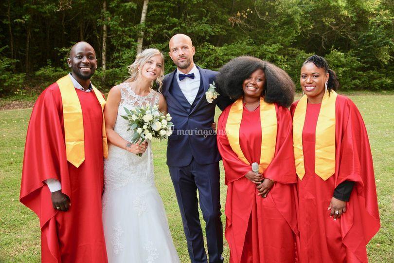 Groupe Gospel avec Les mariées