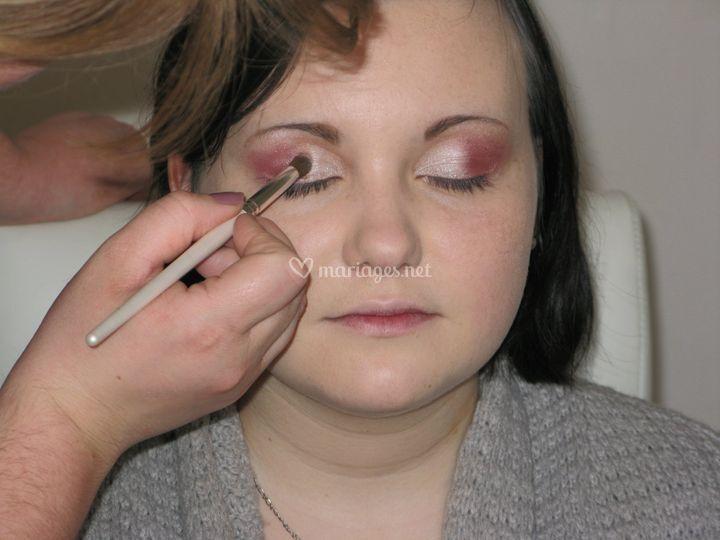 Maquillage fushia