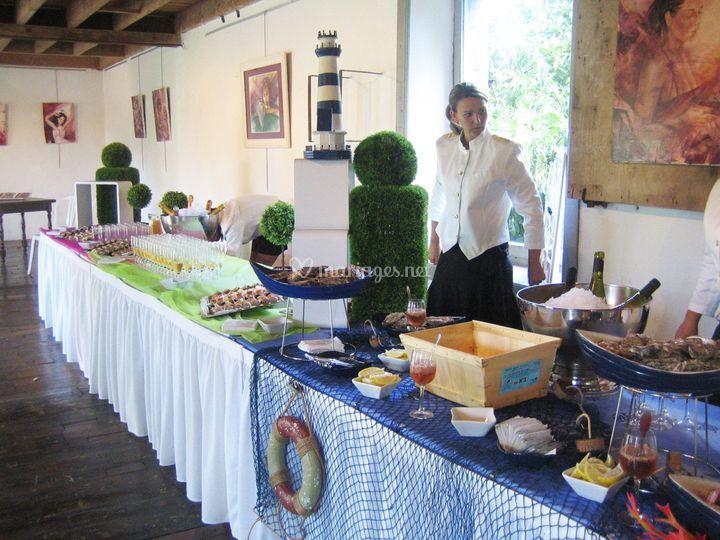 Buffet galerie marin