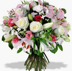 Bouquet rond rose lys