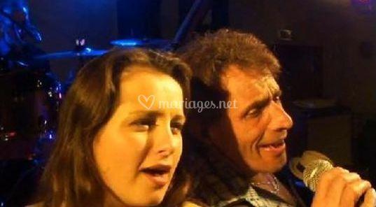 Marie & Gérard au chant.