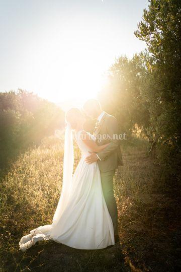 Photos de couple golden hour