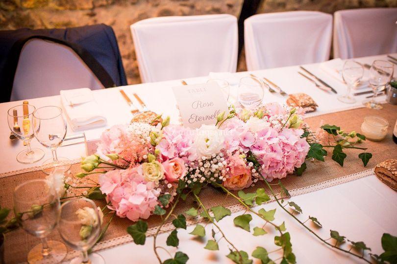 Cente de table mariés