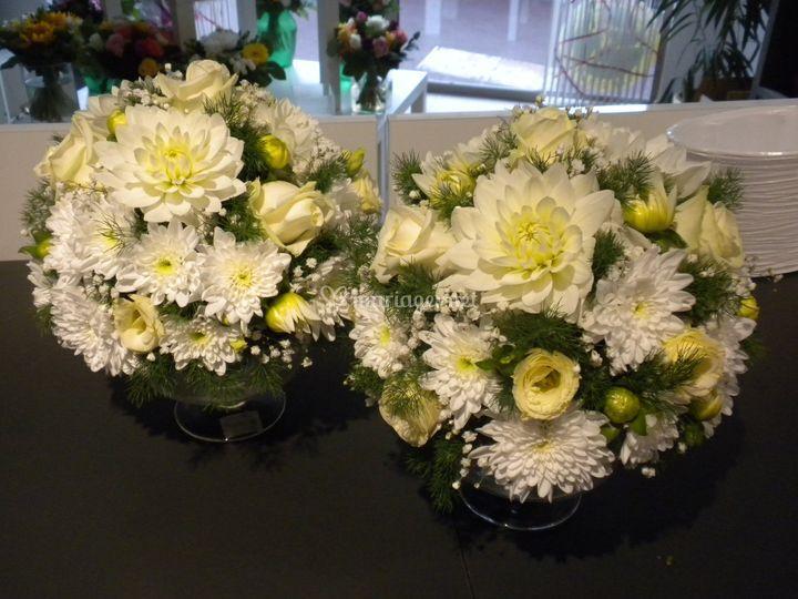 Composition florale tables