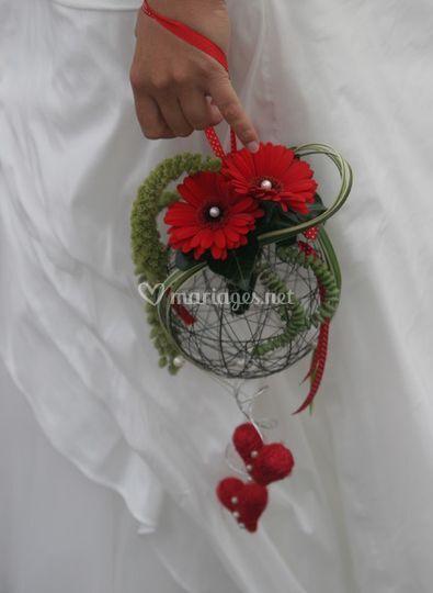 Bouquet de mariée avec poignée