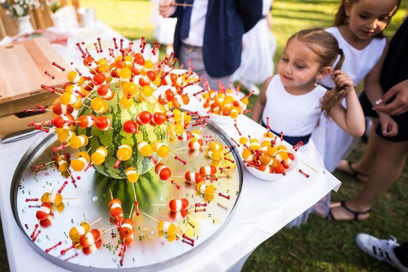Brochettes tomates mozza