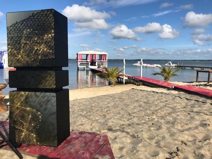 Photobooth sur la plage