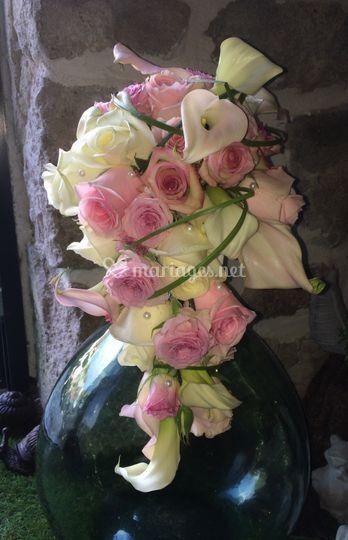 Bouquet chute (monté sur tige)