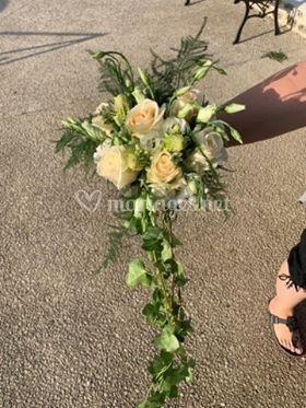 Bouquet de mariée avec chute
