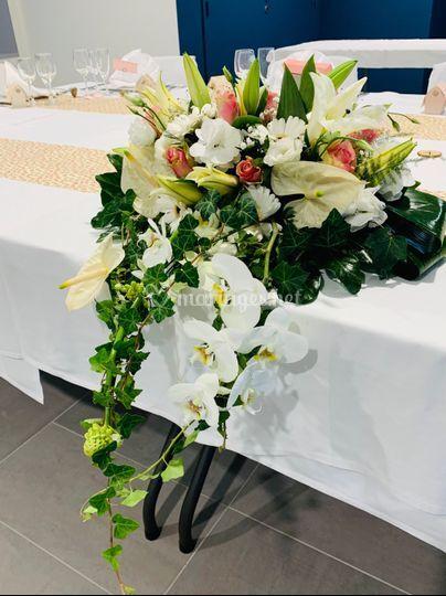 Composition table des mariés