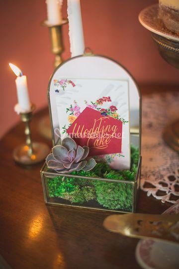 Carte wedding cake