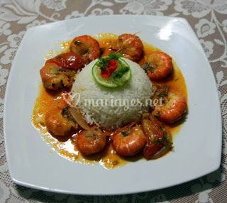 Riz crevettes