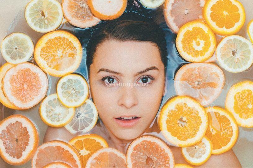 Orange parfum d'eau bain