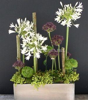 Arrangement de fleurs rustiques