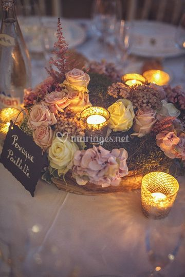 Centre table fleuri By Mlle C