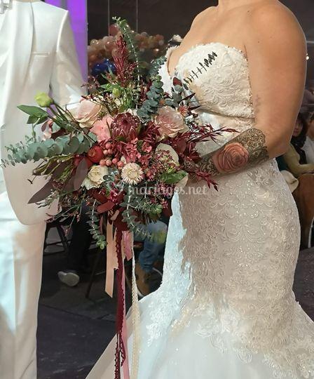 Bouquet de mariée Bohème chic