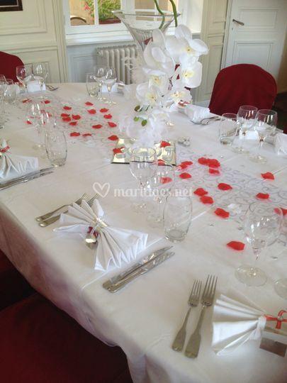 Exemple décoration table