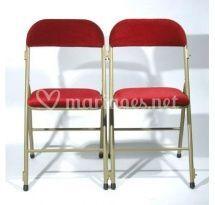 Chaise pliante velours tvm