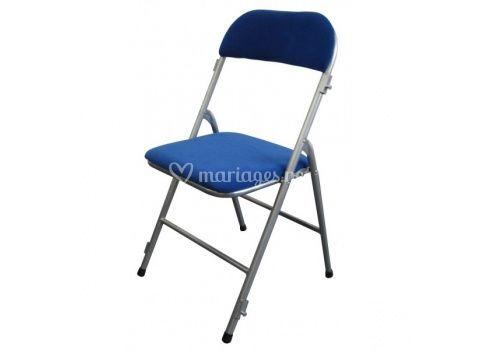 Chaise pliante Bleu