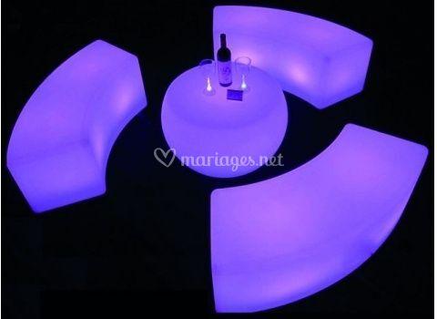 Table basse banc lumineux