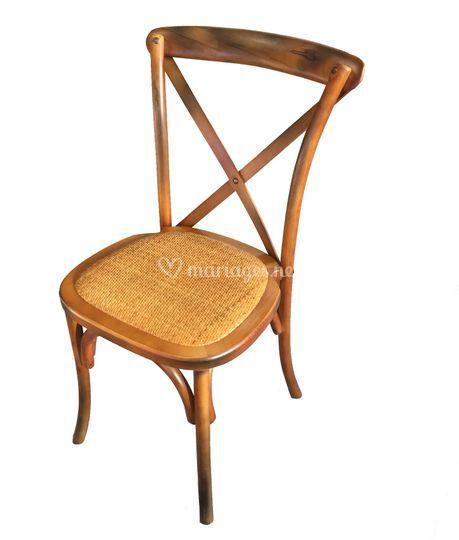 Chaise bistrot - dos croisé