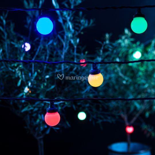 Guirlande guinguettes couleurs