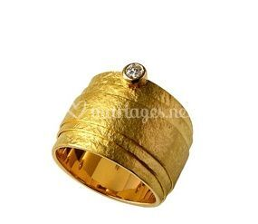 Bague or 18 kt