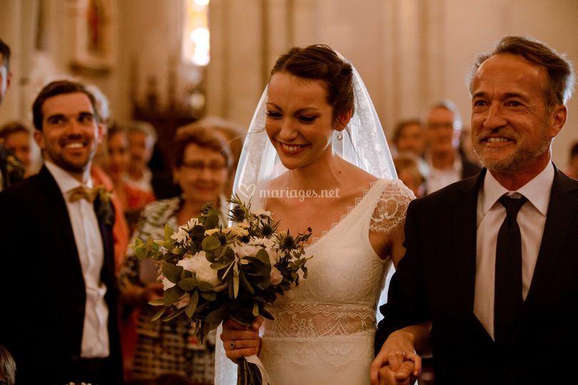 Arrivée de la mariée - Eglise