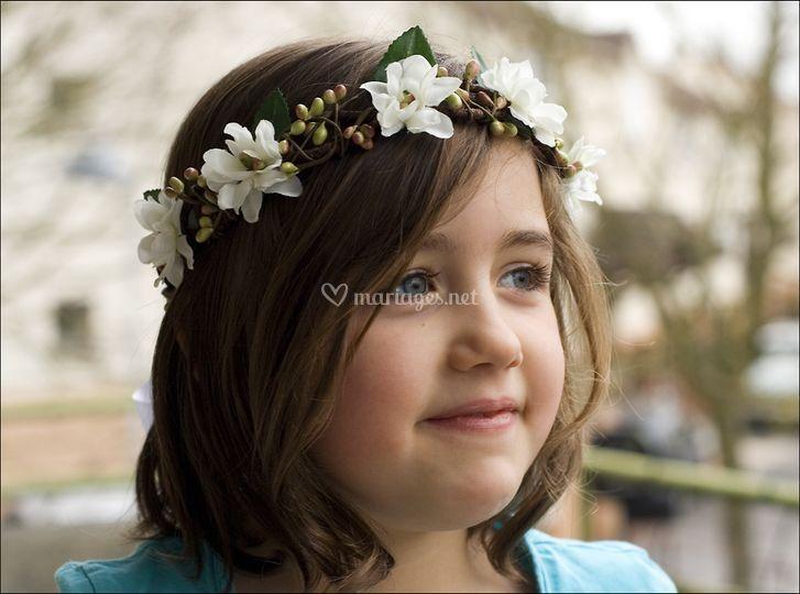 Couronne fleurie enfant