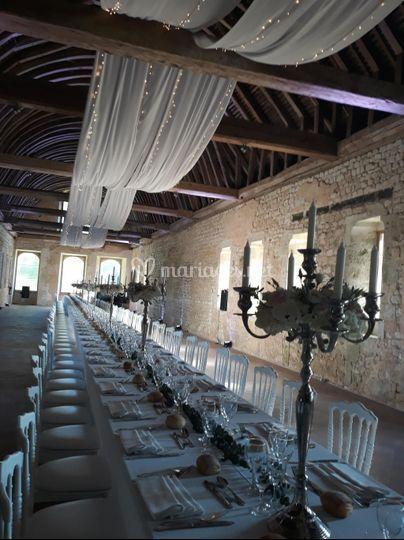 Drapé et décoration de table