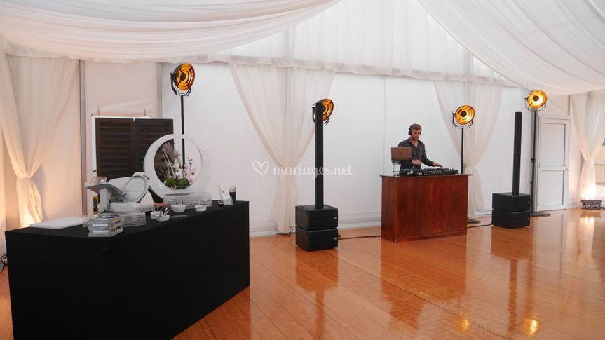 Espace DJ/orchestre