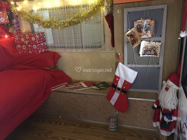 Intérieur Caravane Noël