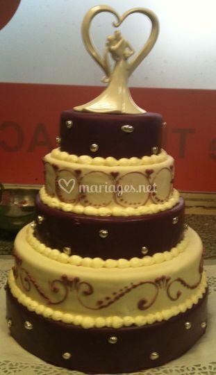 Wedding cake chocolat