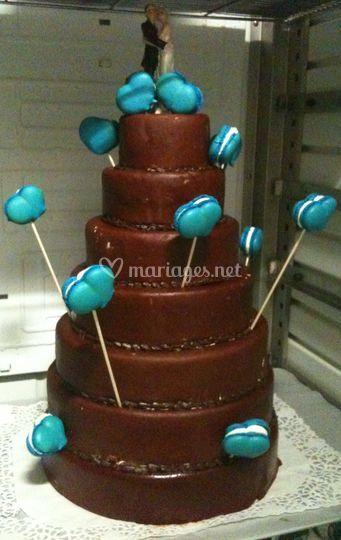Wedding cake chocolat coeurs