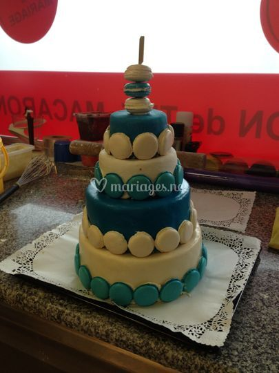 Wedding cake maccarons