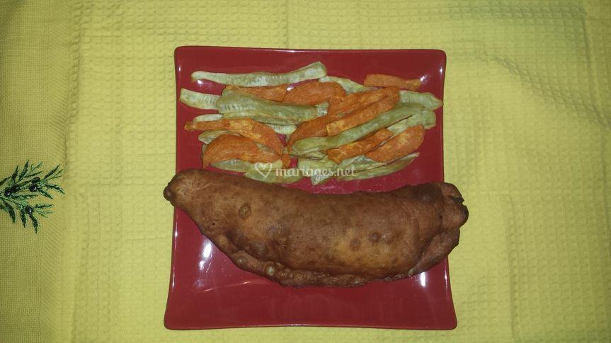Bokit et frites de patates douces