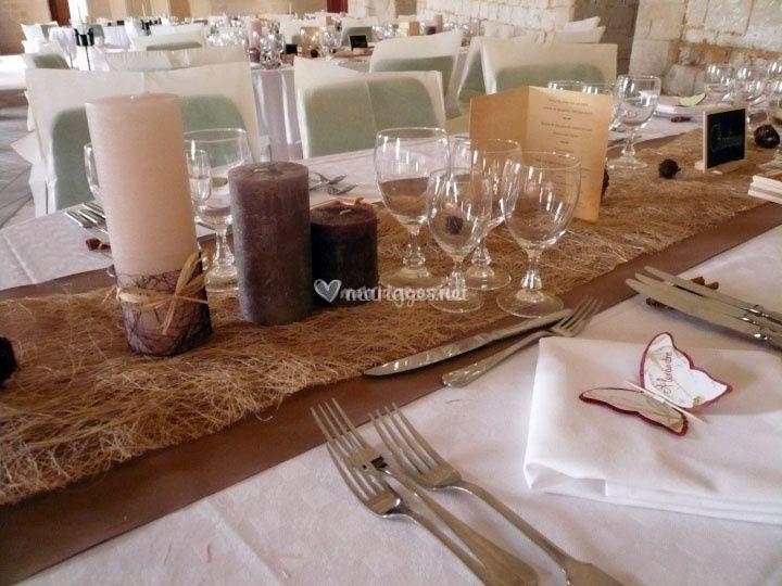 Decoration Table Ivoire Et Chocolat