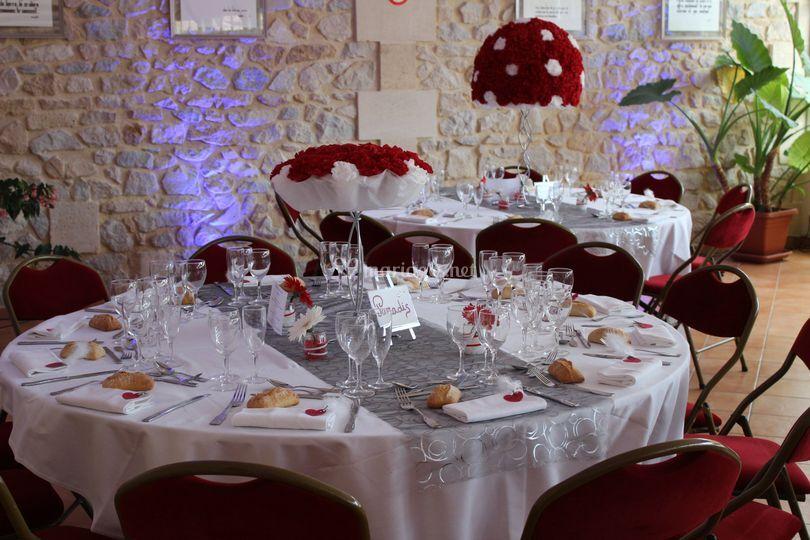 Présentation table de mariage
