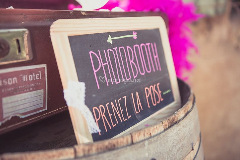 Photobooth mariage vintage