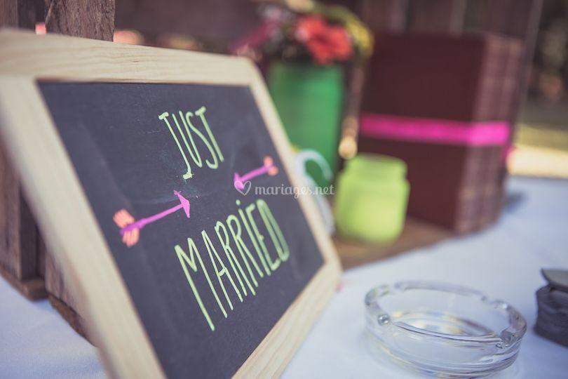 Ardoise mariage