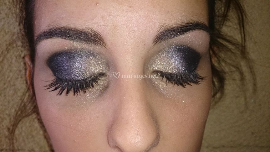 Maquillage soir smoky