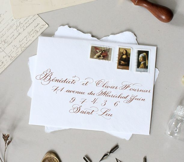 Enveloppes copperplate