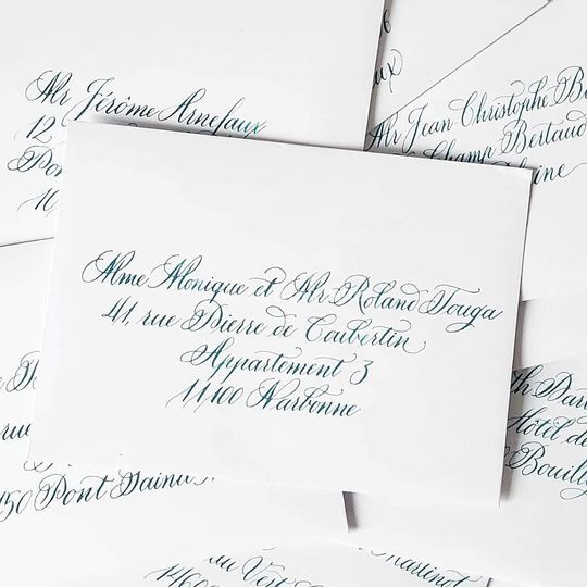 Calligraphie d'enveloppes