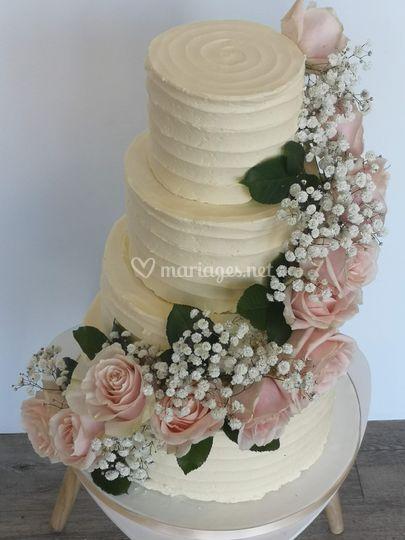 Wedding cake crème au beurre