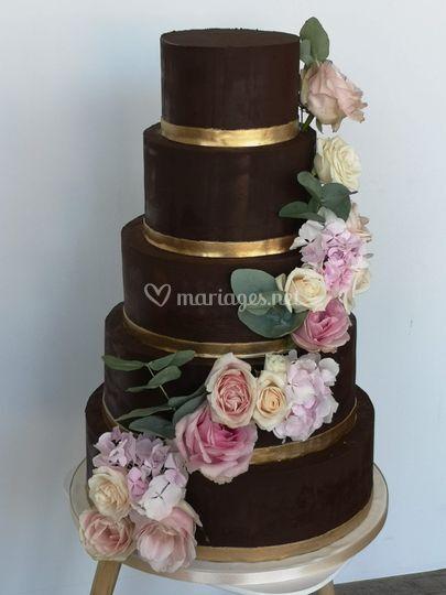 Wedding cake ganache