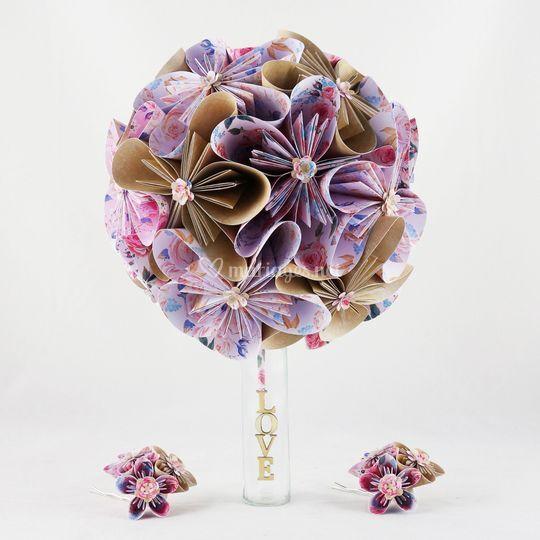 Bouquet de mariage champêtre
