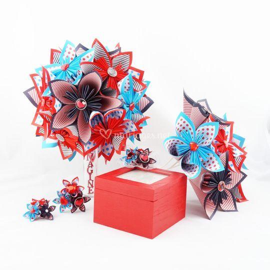 Bouquet mariee papier origami