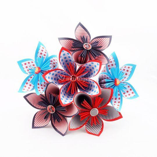 Bouquet papier origami mariage